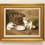 ネビル・アルフレッド・バーネル 『ミルク皿と猫』